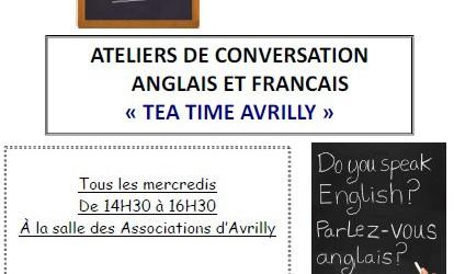 Venez apprendre l'anglais ou le français à Tea Time Avrilly : ambiance conviviale garantie !