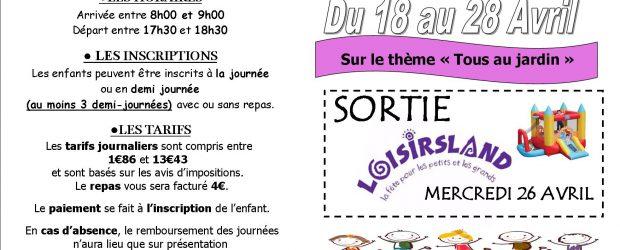 L'accueil de loisirs du Centre Social du Donjon sera ouvert dumardi 18 au vendredi 28 Avrildès 8h jusqu'à 18h30 pour les enfants à partir de 3 ans Durant cette période […]