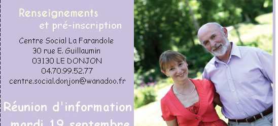 Réunion d'information mardi 19 septembre à 14 heures au Centre Social ! Cliquez sur l'image pour l'agrandir !