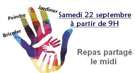 Nous vous attendons nombreux samedi 22 septembre pour notre 4ème journée de solidarité